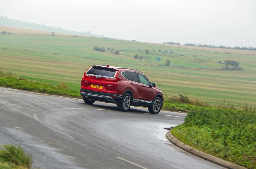 Honda CR-V 2018 road test review - cornering rear