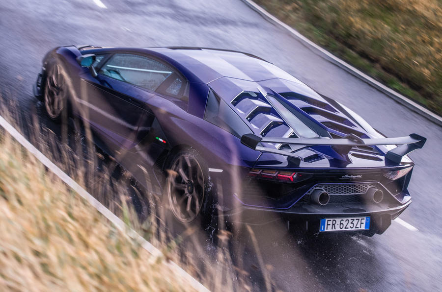 Lamborghini Aventador SVJ 2019 road test review - above view