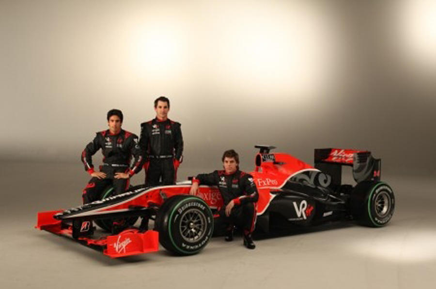 Striking Virgin F1 car revealed
