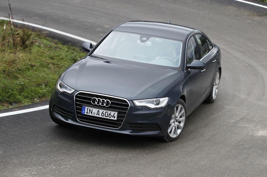 Audi A6 2.0 TDI SE cornering