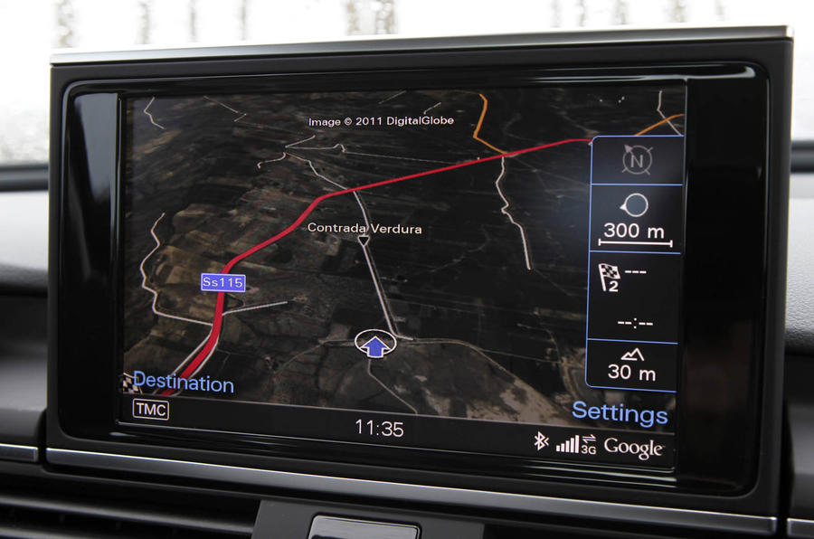 Audi A6 MMI infotainment