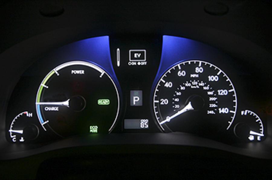 Lexus RX 450h instrument cluster