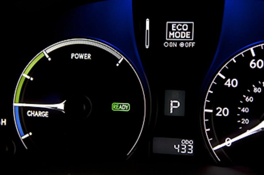 Lexus RX 450h charge meter