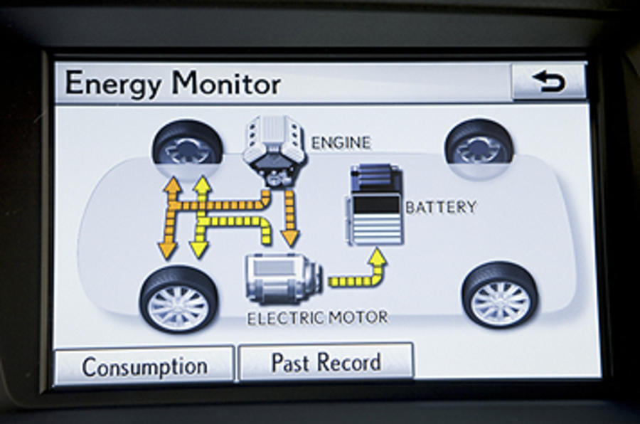 Lexus RX 450h hybrid system