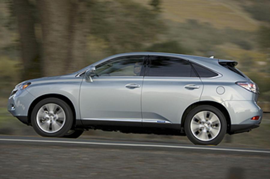 Lexus RX 450h side profile