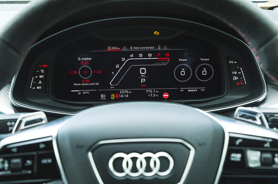 Audi RS6 Avant 2020 road test review - instruments