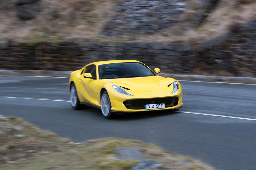 Ferrari 812 Superfast 2018 road test review on the road front
