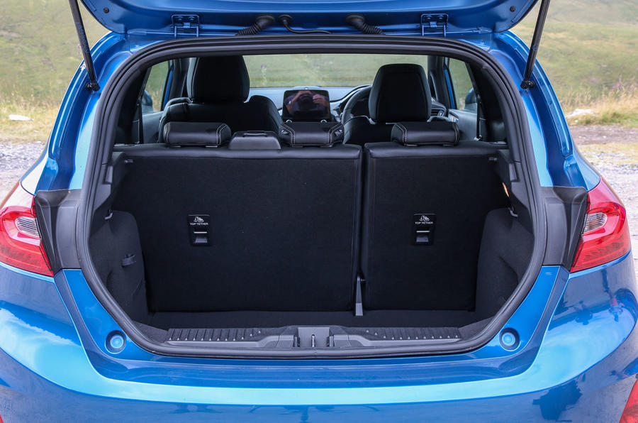 Ford Fiesta ST 2018 road test review boot with seats up
