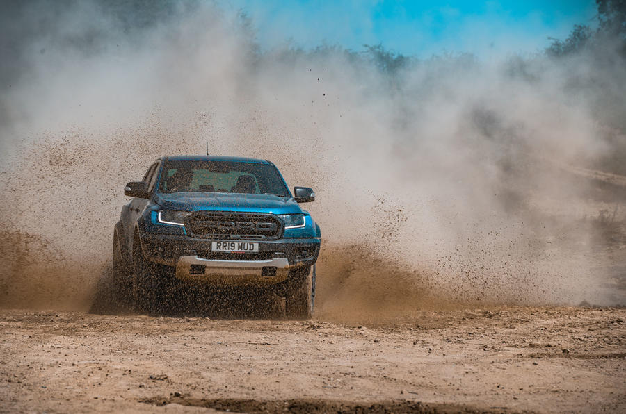 Ford Ranger Raptor 2019 road test review - mud front