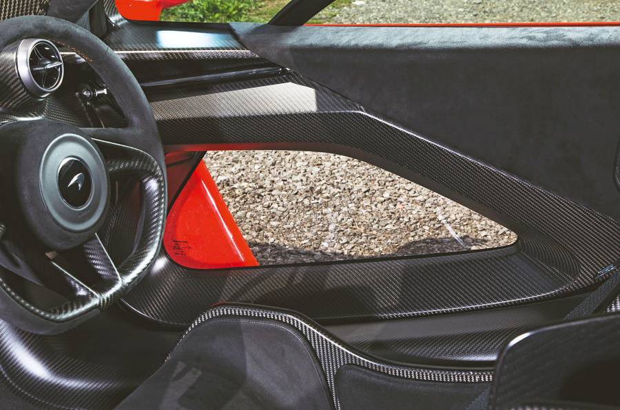 McLaren Senna 2018 road test review - doors inside