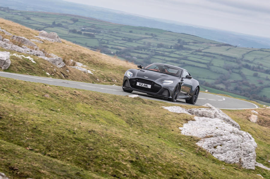 Aston Martin DBS Superleggera 2018 road test review - cornering front