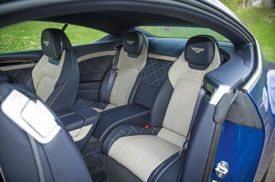 Bentley Continental GT 2018 Autocar road test review rear seats