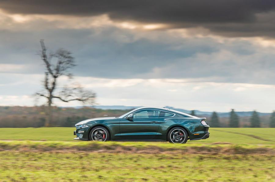 Ford Mustang Bullitt 2018 road test review - on the road left