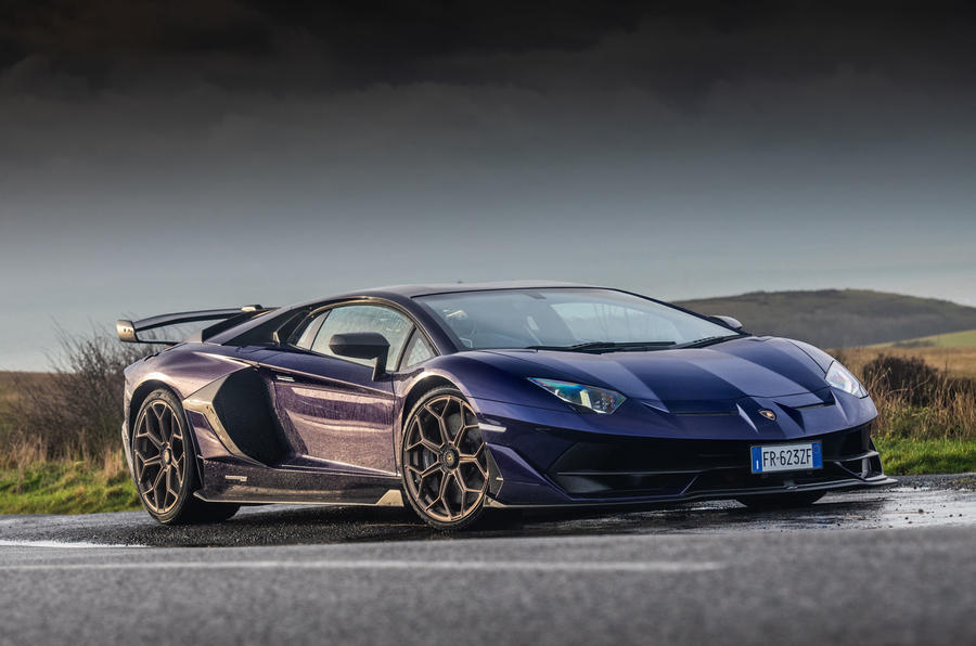 Lamborghini Aventador SVJ 2019 road test review - static front