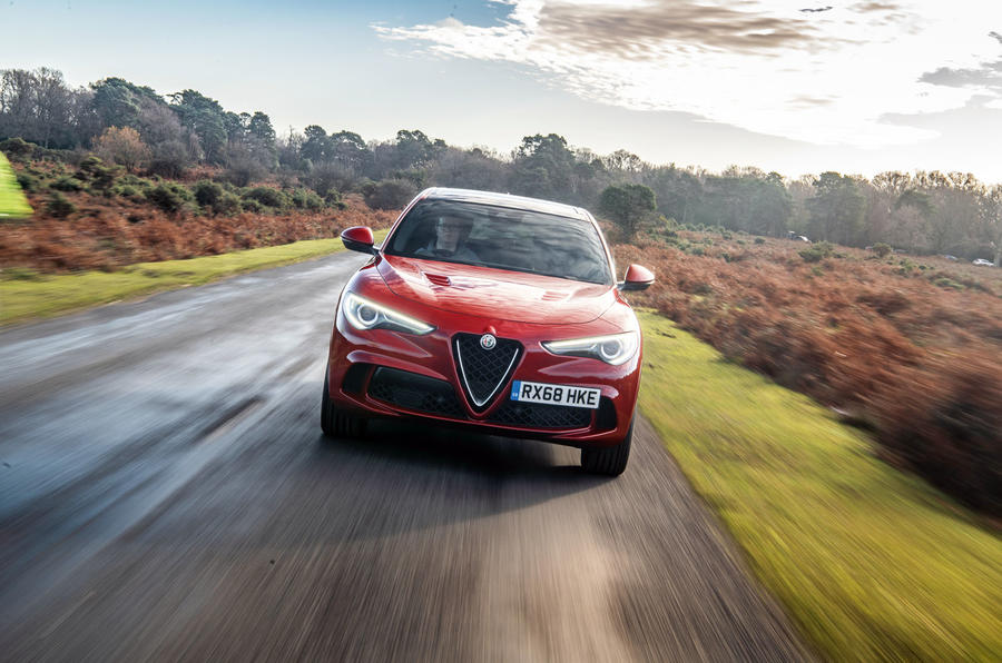 Alfa Romeo Stelvio Quadrifoglio 2019 road test review - on the road