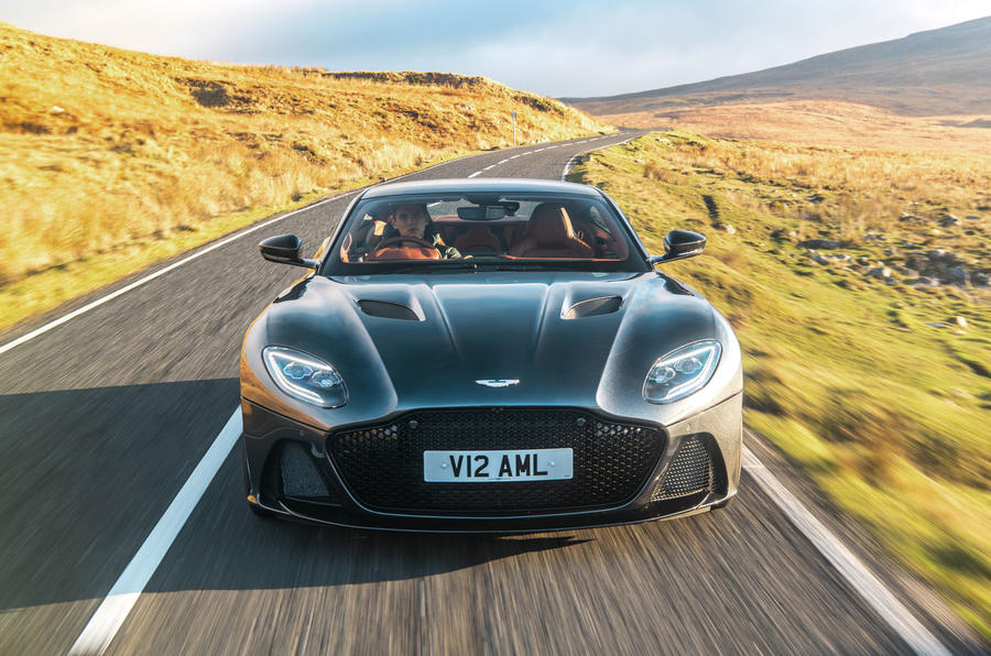 Aston Martin DBS Superleggera 2018 road test review - driving nose