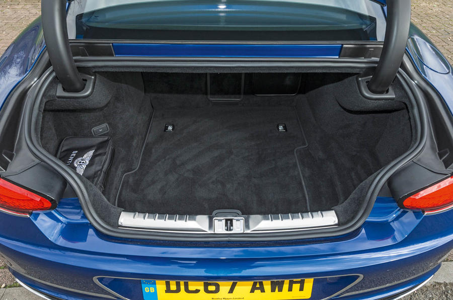 Bentley Continental GT 2018 Autocar road test review boot space