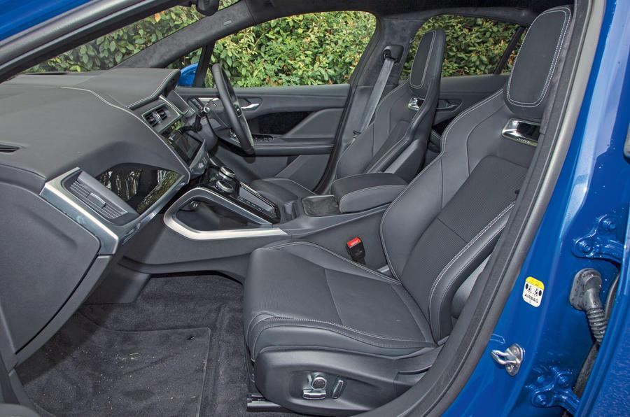 Jaguar I-Pace 2018 road test review front seats