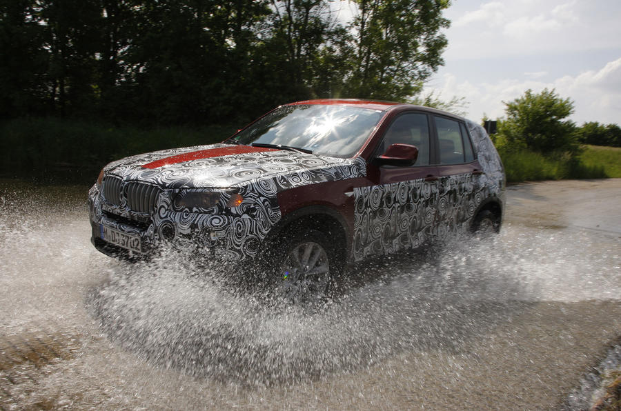 BMW X3 wading