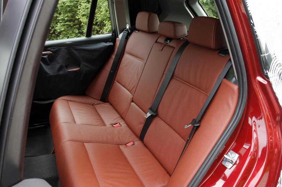 BMW X3 rear seats