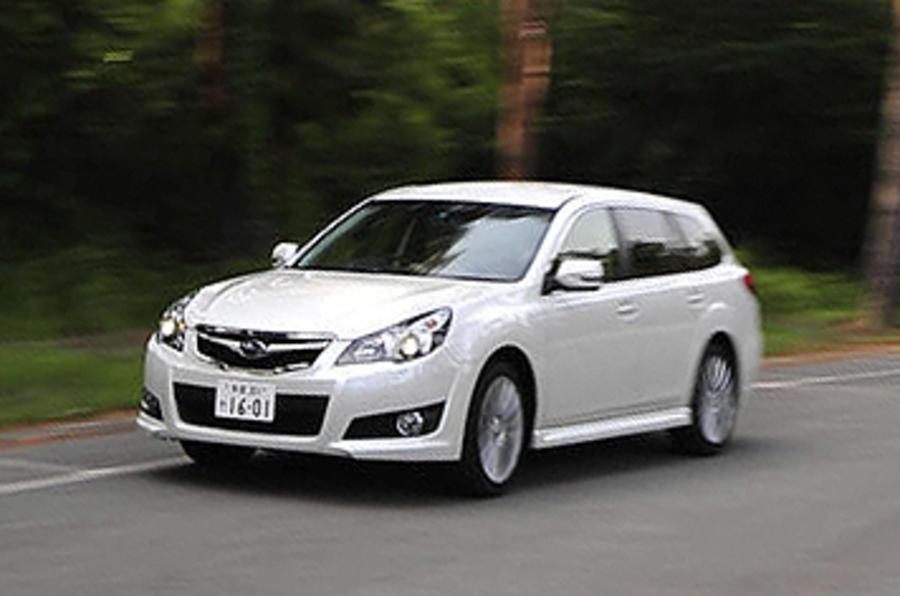 Subaru Legacy cornering