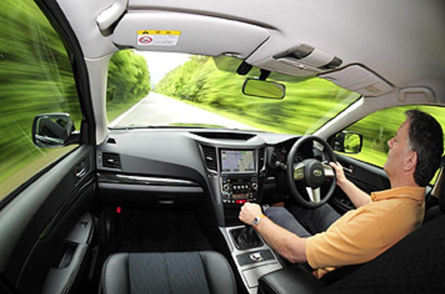 Driving the Subaru Legacy 2.5i 5dr Estate