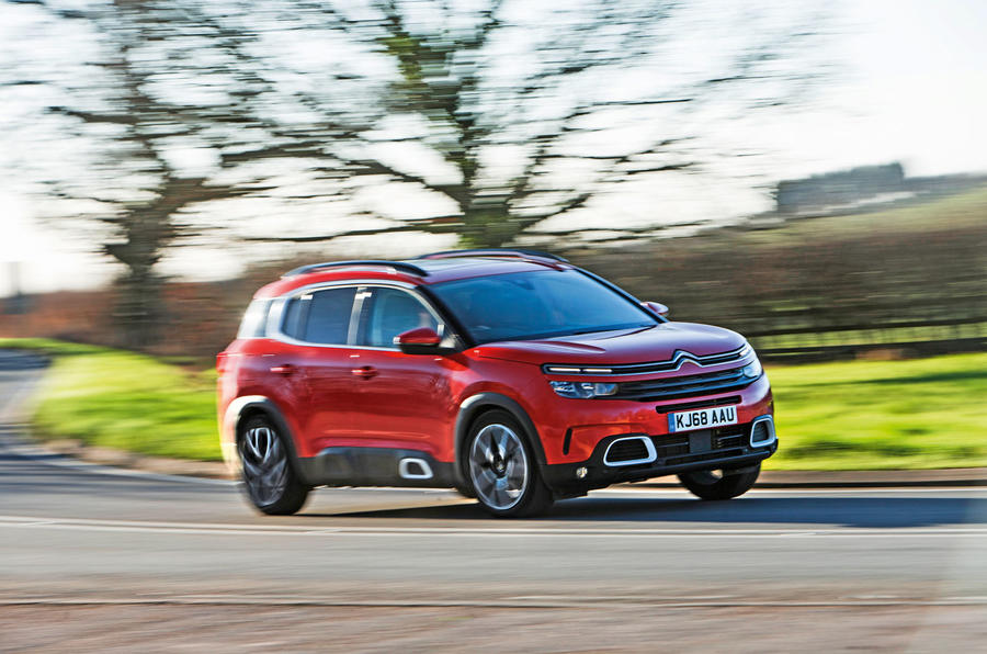 Citroen C5 Aircross 2019 road test review - cornering front