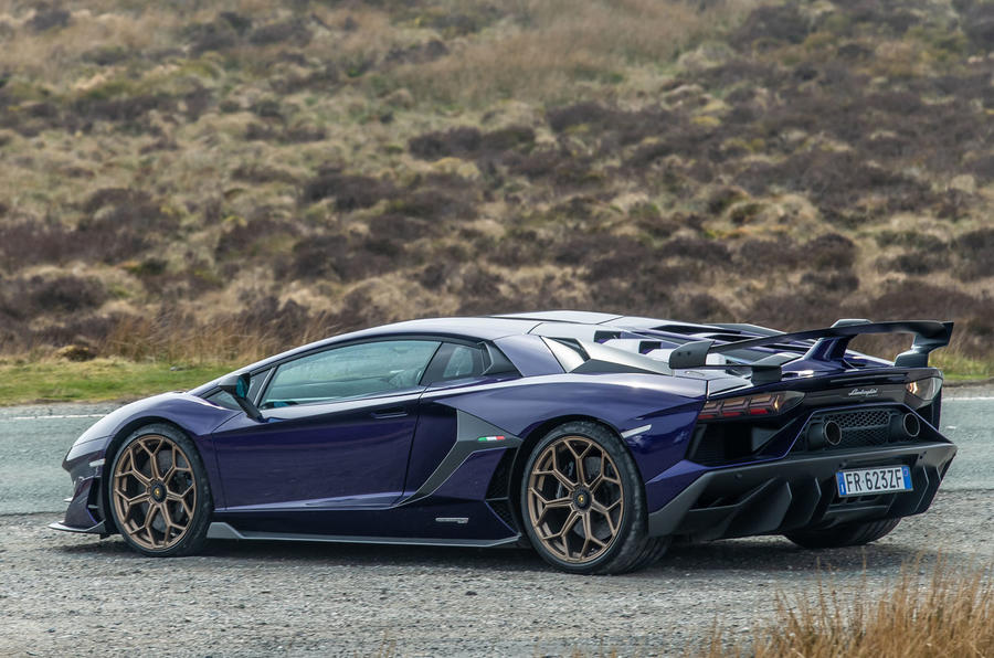 Lamborghini Aventador SVJ 2019 road test review - static rear