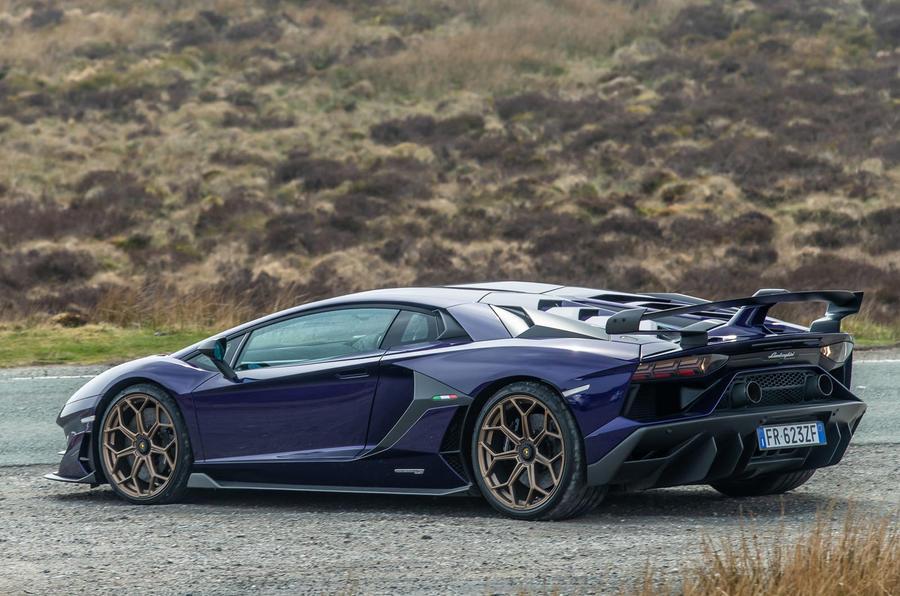Lamborghini Aventador SVJ 2019 road test review - static rear