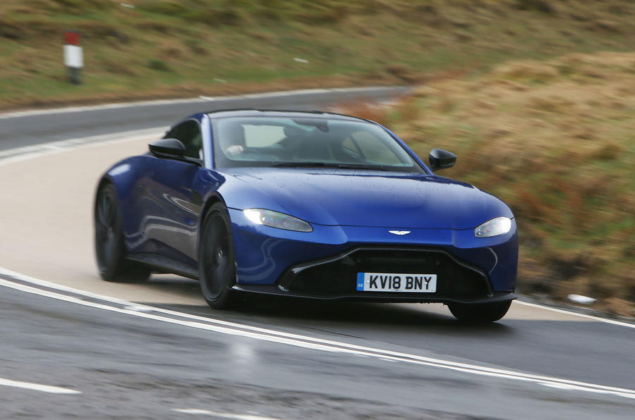 Aston Martin Vantage 2018 review cornering