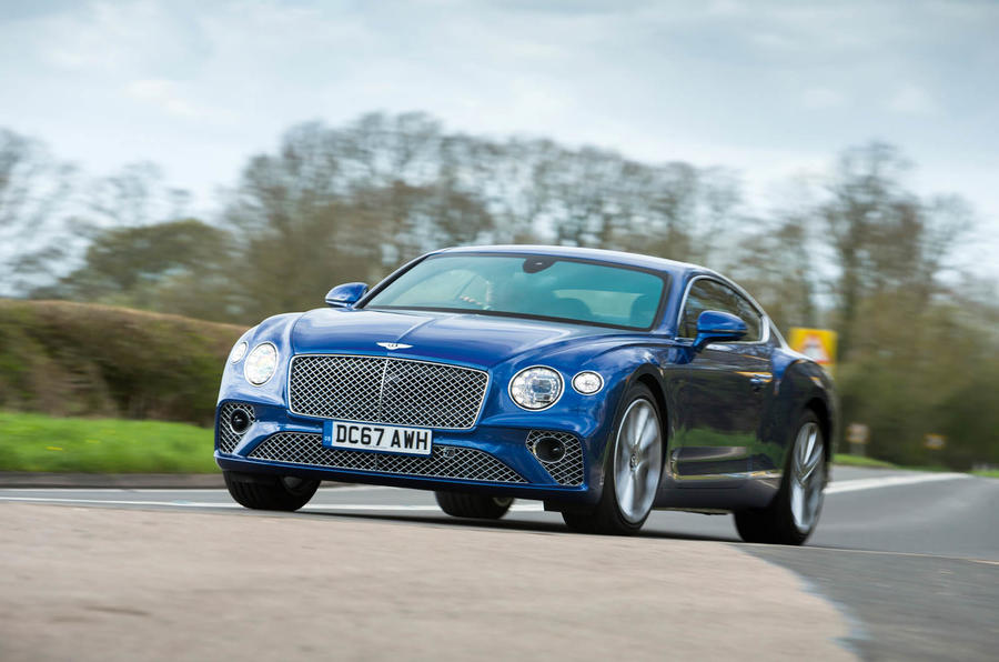 Bentley Continental GT 2018 Autocar road test review cornering right