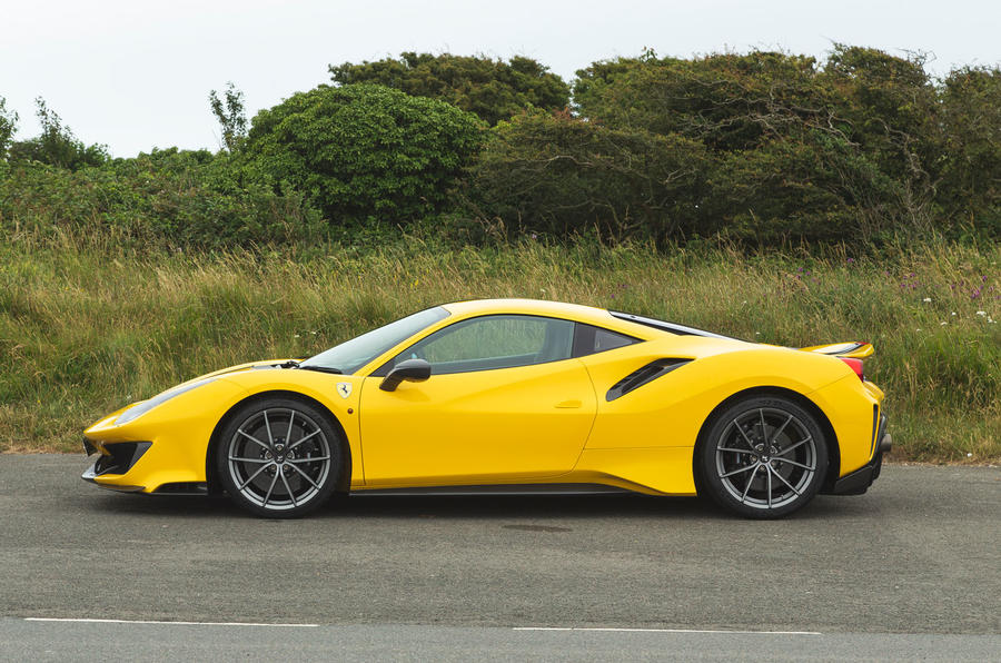 Ferrari 488 Pista 2019 road test review - static side