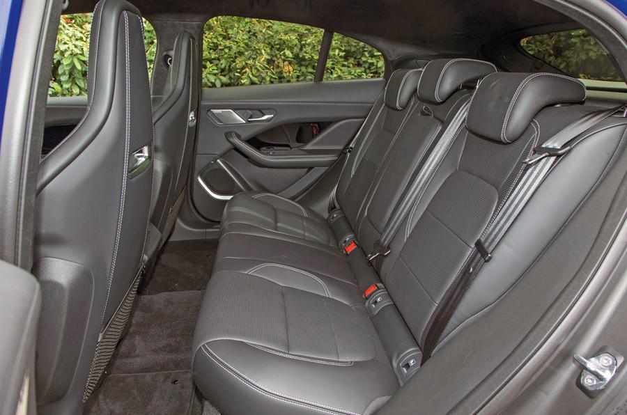 Jaguar I-Pace 2018 road test review rear seats
