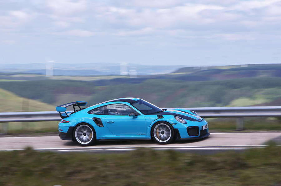 Porsche 911 GT2 RS 2018 road test review on the road side