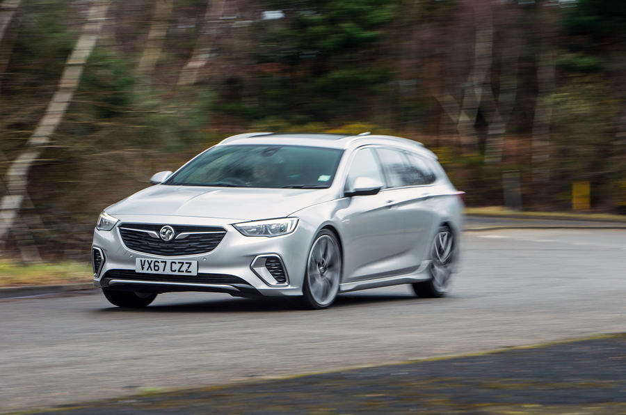 Vauxhall Insignia Sports Tourer GSI review cornering front