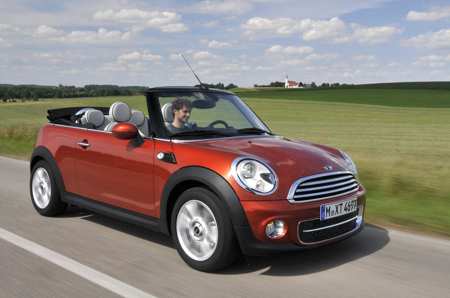 Mini Cooper D Convertible roof down