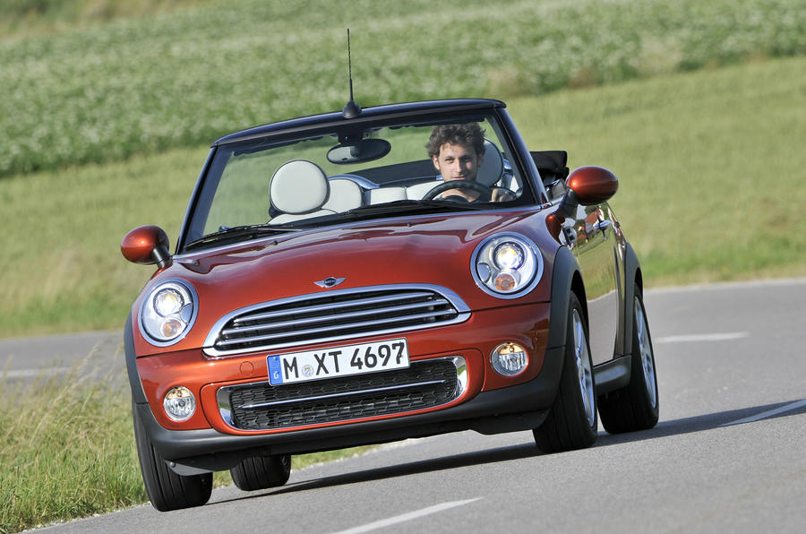 Mini Cooper D Convertible cornering