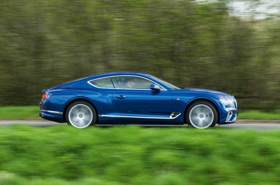 Bentley Continental GT 2018 Autocar road test review side profile