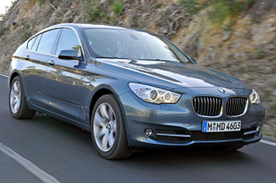 BMW 5 Series GT on the road