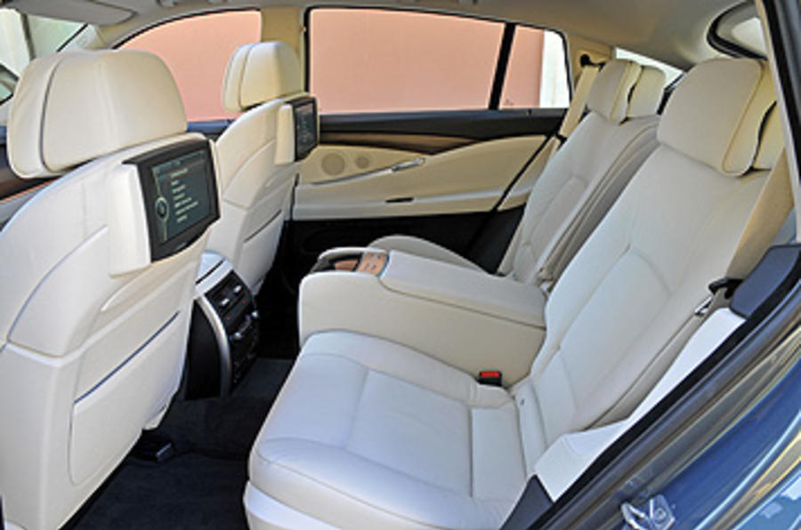 BMW 5 Series GT rear seats