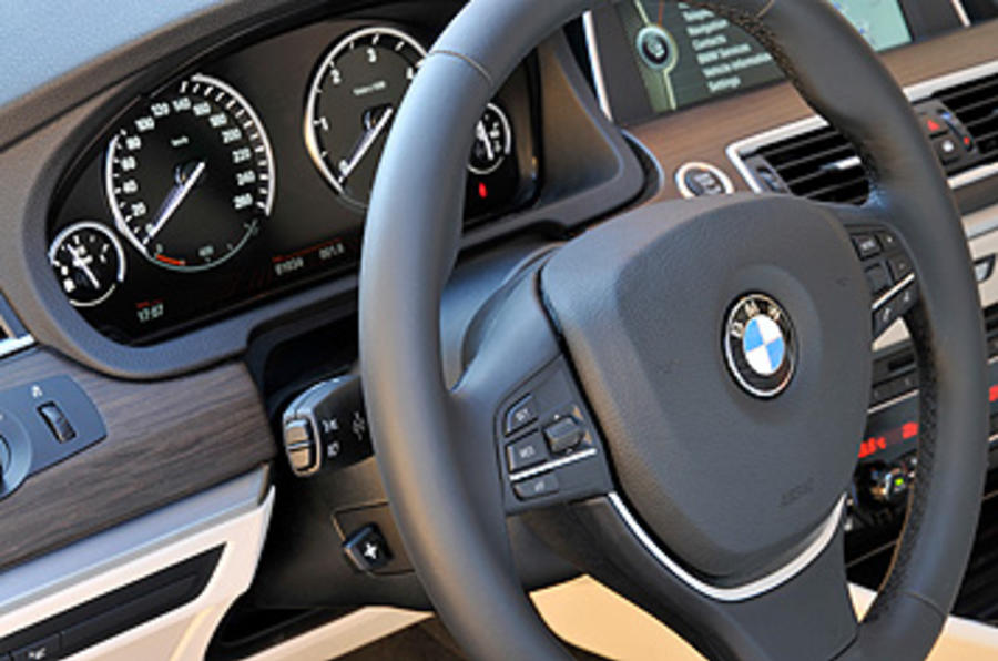 BMW 5 Series GT steering wheel