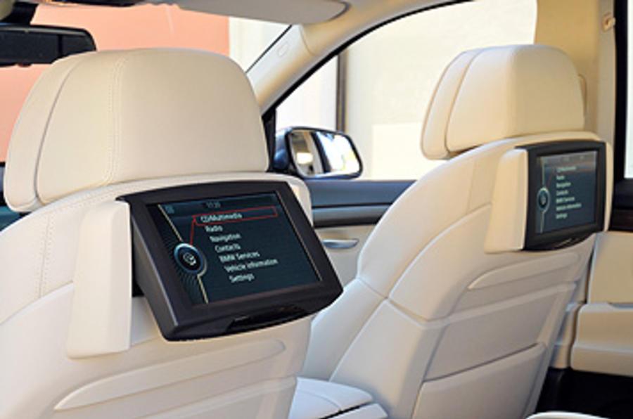 BMW 5 Series GT rear TV screens