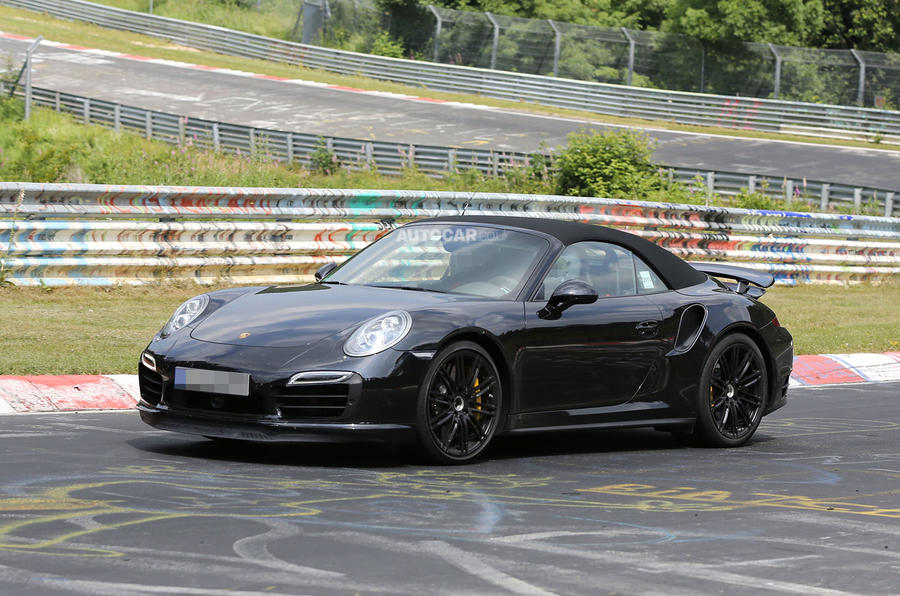 2014 Porsche 911 Turbo S Cabriolet spotted undisguised