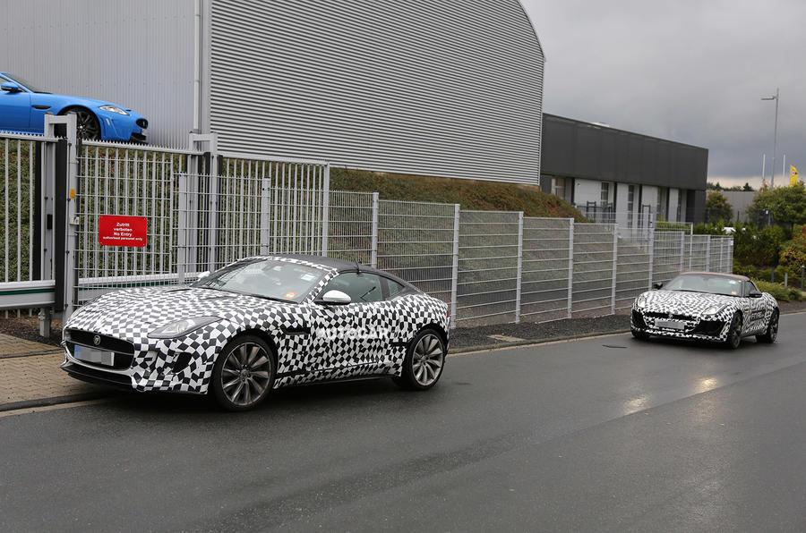 Jaguar F-type coupé spotted testing