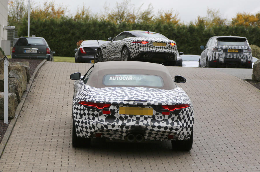 Jaguar F-type coupé spotted testing