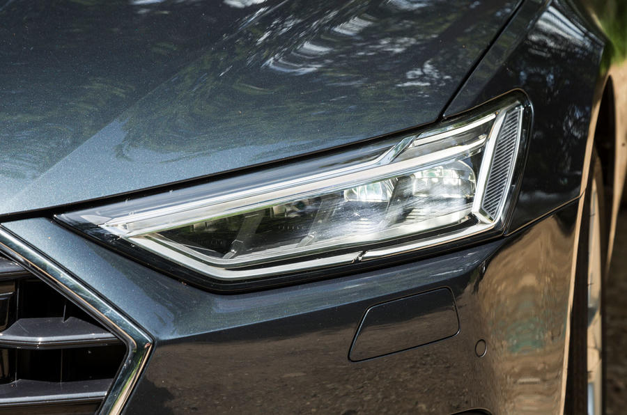 Audi A7 Sportback 2018 road test review headlights