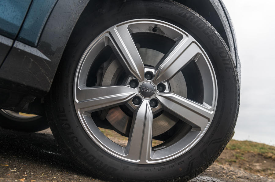 Audi E-tron 55 Quattro 2019 road test review - alloy wheels