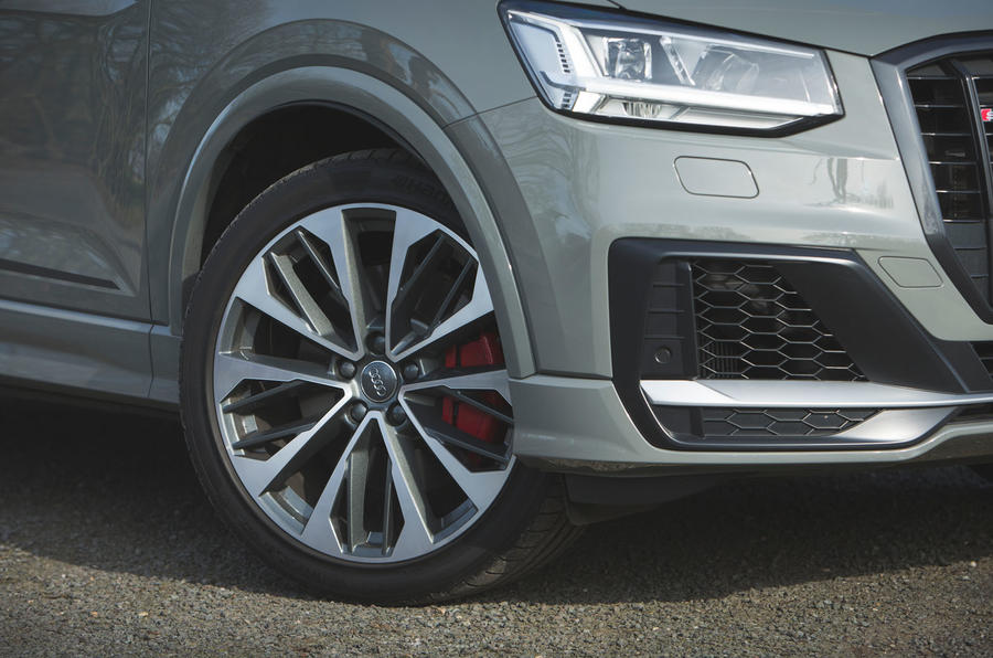 Audi SQ2 2019 road test review - front bumper