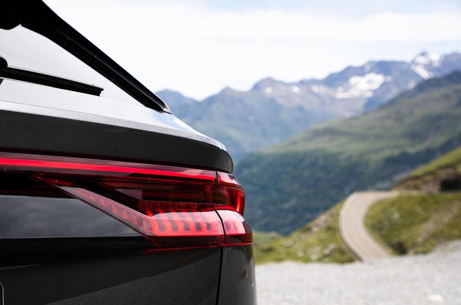 Audi SQ8 2019 road test review - rear lights