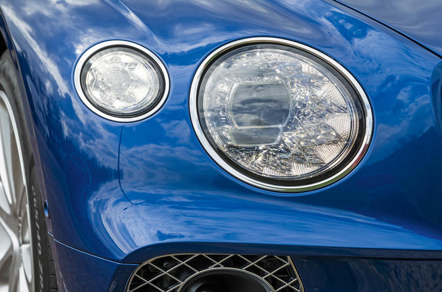 Bentley Continental GT 2018 Autocar road test review headlights